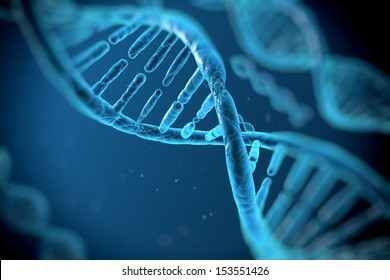 digital illustration human DNA strand