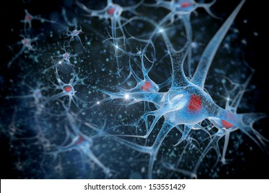 digital illustration of a neuron