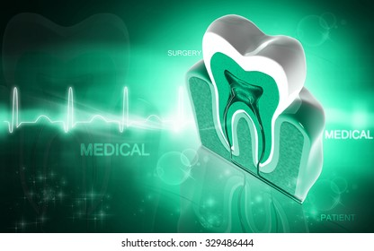 Digital illustration of  polio virus in green colour  background