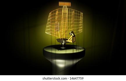 digital illustration of radar antenna