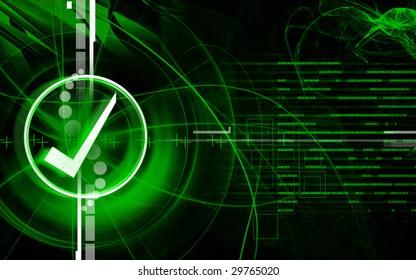 Digital illustration of Right mark