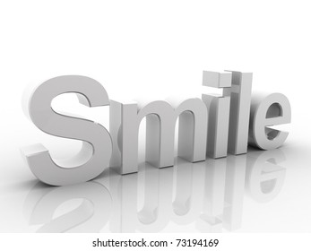 Digital illustration of smile in white background