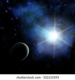 Digital Illustration of a Space Scene