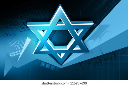 Digital illustration of star symbol in isolated background