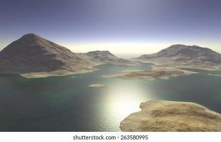 Digital Illustration of a surreal Landscape