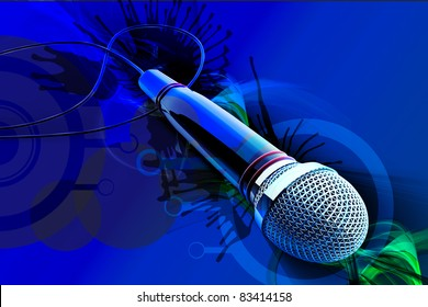 digital illustrations of 3d microphone