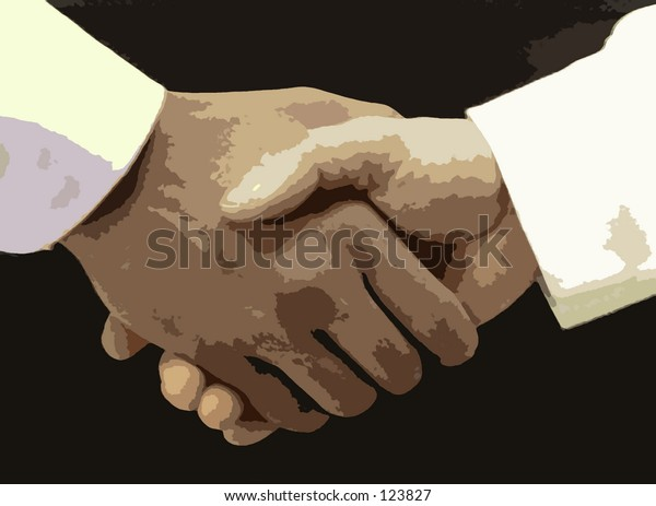 Digital image of two hands shaking