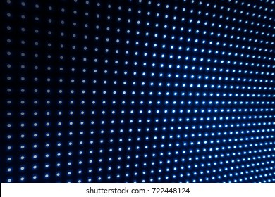 Digital LED blue light dots abstract blur background glowing for event, concert or title showing in presentation