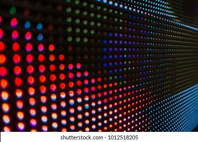 Digital LED light dots abstract blur background glowing for event, concert or title showing in presentation