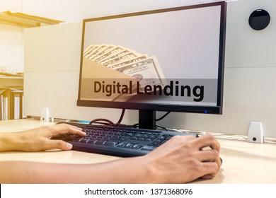 digital lending concept