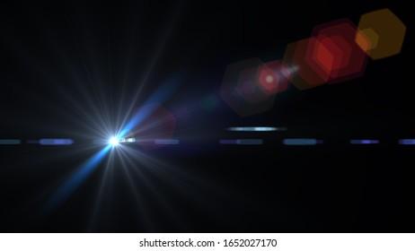 Digitale Linsenflare, abstrakte Overlays Hintergrund.ART