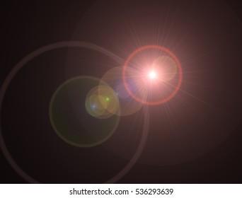 digital lens flare in black background