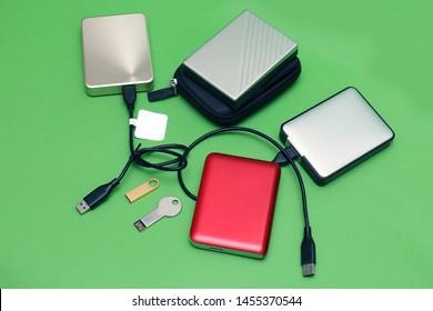 Digital memory external hard drives and small flesh drives