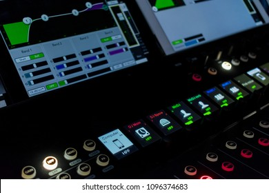 Digital mixer and tablet control in night live concert