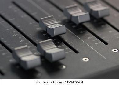 Digital mixing console for recording studios, public address systems, sound reinforcement systems, nightclubs, broadcasting, television, and film post-production close-up