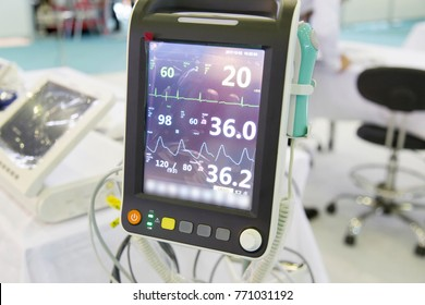 Digital and modern view from patient monitor