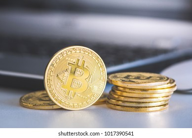 Digital money bitcoin.