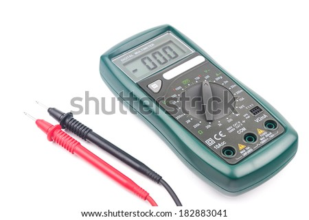 Digital multimeter isolated on