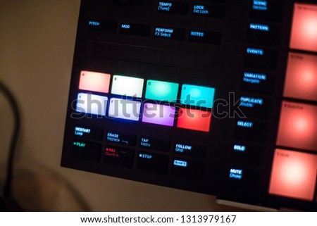 Digital Music Production Device Stock Photo (Edit Now