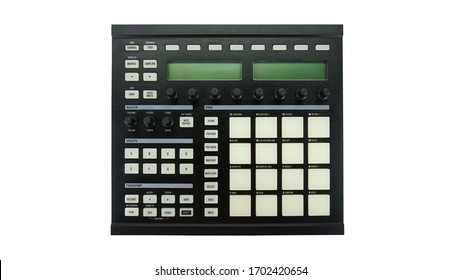 Digital music sampler with pad. Native instrument machine. Machine music controller