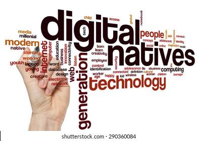Digital natives word cloud concept