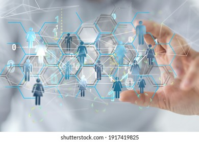Digital Network and data concept.