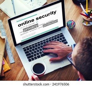 Digital Online Security Protection Searching Concept