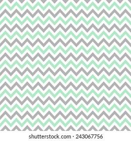 Digital Paper For Scrapbook Light Mint Gray Chevron Pattern Seamless