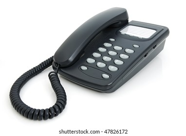 Digital phone with a speakerphone on a white background