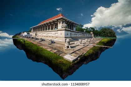 Digital photo manipulation of Independence square at Colombo Sri Lanka