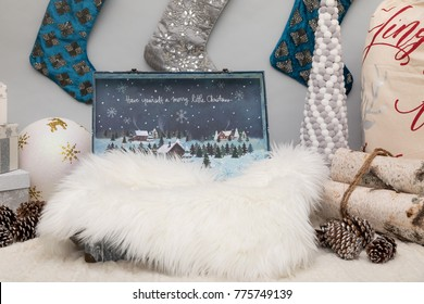 Digital Photography Backdrop for newborn. Christmas Digital background for photography. Christmas and New Year Decorations.