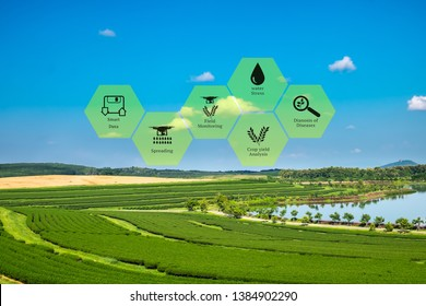 Precision Agriculture Icons Images, Stock Photos & Vectors