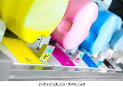 digital printing press cartridges background