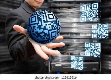 Digital QR code concept