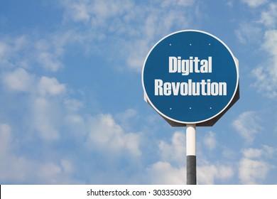 Digital Revolution Sign