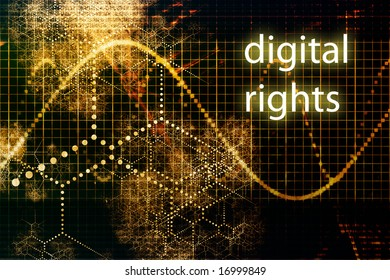 Digital Rights Abstract Technology Concept Wallpaper Background With Graph