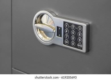 Digital safe lock code on a Safety box bank