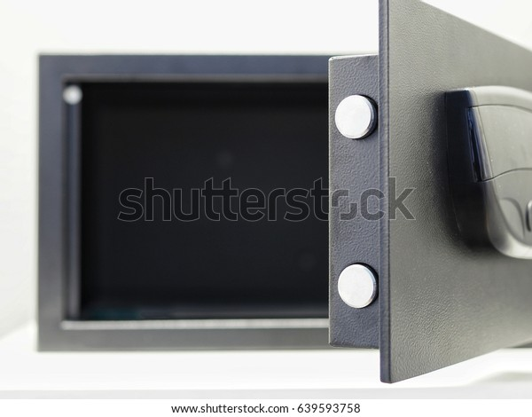 Digital Safety Box Hotel Room Isolated Stock Photo (Edit Now