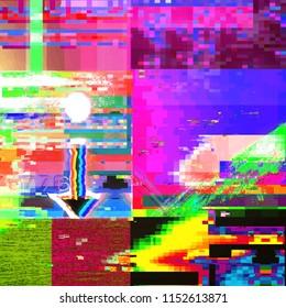 Digital Screen Glitch Texture