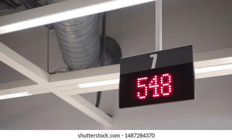Digital sign for queue counter. (Display Board system in LED light.)
