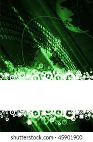 Digital space background