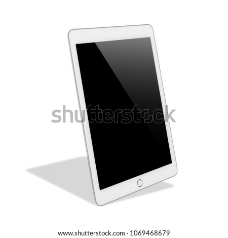 Digital Tablet Computer Blank Black Screen Stock Photo (Edit Now ...