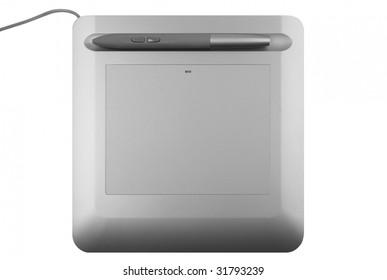 Digital tablet over white