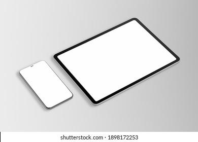 Digital tablet phone screen mockup smart tech