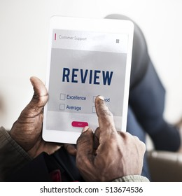 Digital Tablet Review Assessment Concept