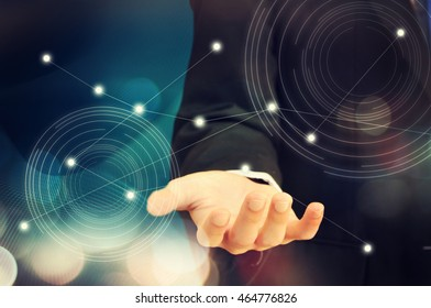 Digital technology, communication and business concept