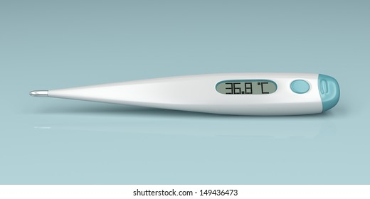 Digital thermometer, 3d rendered image