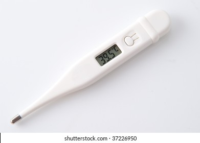 digital thermometer isolated on white