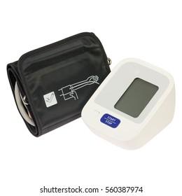 Digital tonometer isolated on white background. Digital blood pressure monitor
