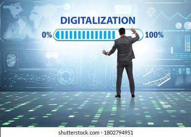 Digital transformation and digitalization concept